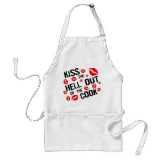 Bese el infierno fuera del cocinero delantales