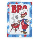 Bese la invitación de la barbacoa del cocinero tarjeta de felicitación