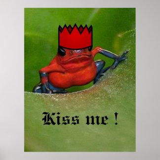 Bese la rana del príncipe póster