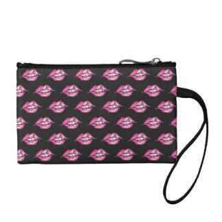 Bese los labios - rosa y negro