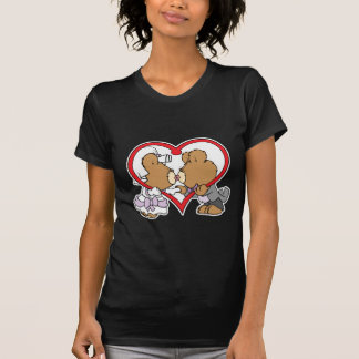 bese los osos de peluche del novio de la novia camisetas