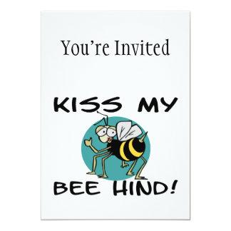 Bese mi abeja trasera invitación 12,7 x 17,8 cm