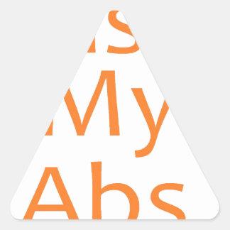 Bese mi ABS Pegatina Triangular
