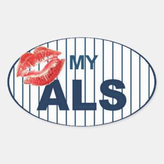 Bese mi ALS2 Pegatina Ovalada