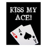 ¡BESE MI AS! Poster del póker