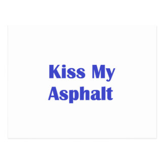 Bese mi asfalto tarjeta postal