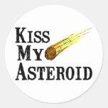 Bese mi asteroide pegatina redonda