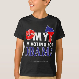 Bese mi burro, Im votando por Obama Playera