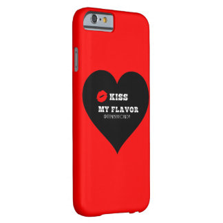 Bese mi corazón negro rojo de Vape del sabor Funda Para iPhone 6 Barely There