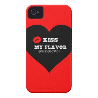 Bese mi corazón negro rojo de Vape del sabor iPhone 4 Protectores
