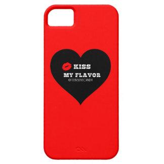 Bese mi corazón negro rojo de Vape del sabor iPhone 5 Carcasa
