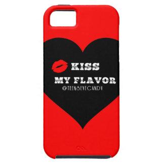 Bese mi corazón negro rojo de Vape del sabor iPhone 5 Funda