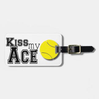 ¡Bese mi etiqueta del equipaje del as - monograma! Etiqueta Para Maleta