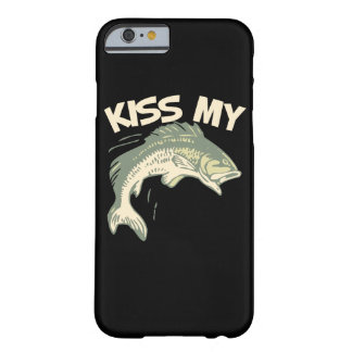 Bese mi humor de la pesca de la lubina funda de iPhone 6 barely there