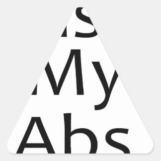 Bese mi negro de los ABS Pegatina Triangular