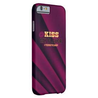 Bese mi negro de Vape Borgoña del sabor Funda De iPhone 6 Barely There