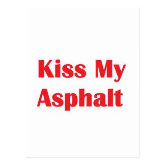 Bese mi negro del asfalto postal
