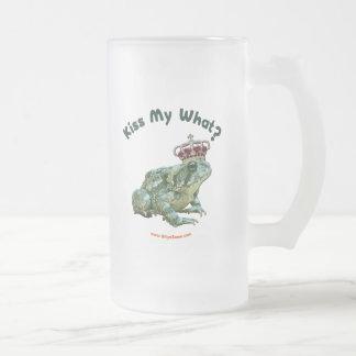 Bese mi qué príncipe del sapo de la rana taza cristal mate
