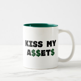Bese mi taza divertida del inversor de los activos