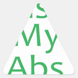 Bese mi verde de los ABS Pegatina Triangular