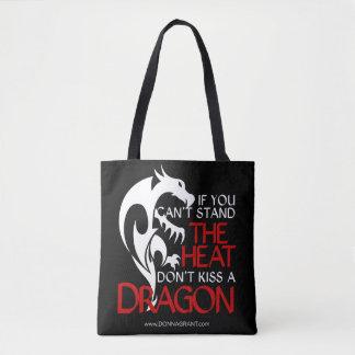 Bese un tote del dragón bolsa de tela