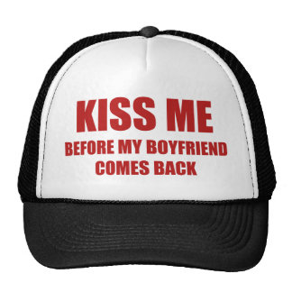 Béseme antes de que se vuelva mi novio gorro