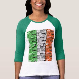 Béseme bandera irlandesa camisetas