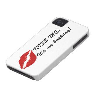 BÉSEME, caja intrépida de Blackberry del iPhone 4 Case-Mate Protector