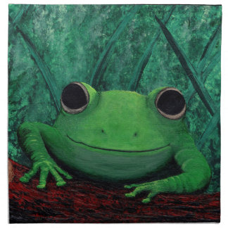 ¡BÉSEME! (~ del diseño de la rana) Servilleta Imprimida