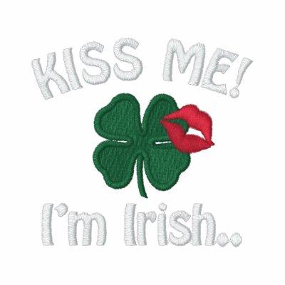 Béseme día de Patricks del santo del irlandés Im Camiseta Polo