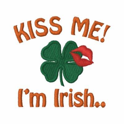 Béseme día de Patricks del santo del irlandés Im Sudadera Encapuchada