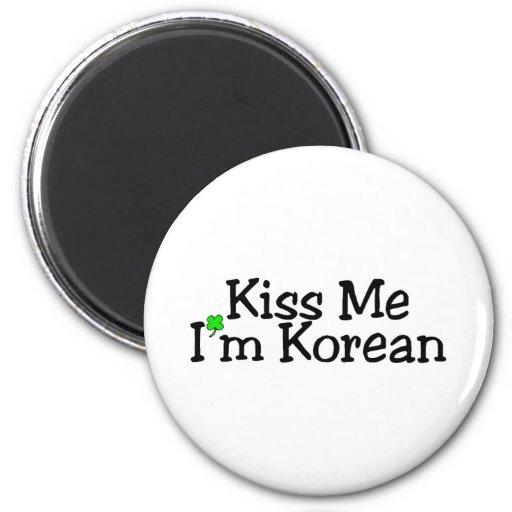 Béseme el coreano Im Imán Para Frigorifico