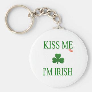 Béseme el irlandés Im Llavero Redondo Tipo Pin