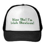Béseme gorra mexicano irlandés