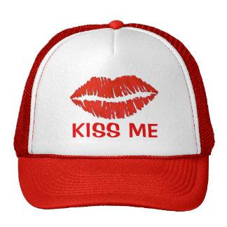 Béseme gorra rojo del el día de San Valentín del
