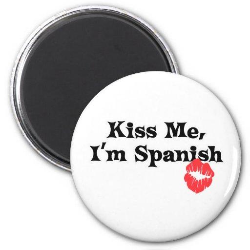 Béseme I' español de m Imán De Frigorífico