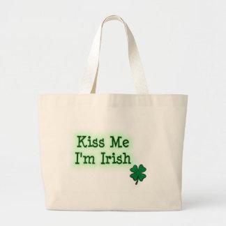 Béseme I' irlandés de m Bolsa Lienzo