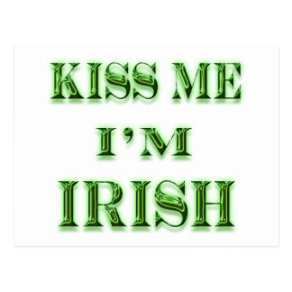 Béseme I, irlandés de m Tarjeta Postal