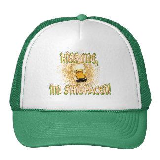 ¡béseme, im hecho frente! gorras