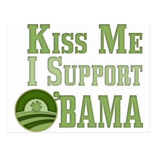 Béseme irlandés Obama Postal