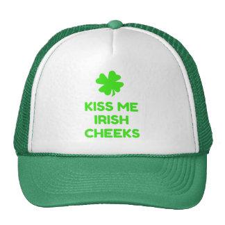 Béseme las mejillas irlandesas gorras de camionero