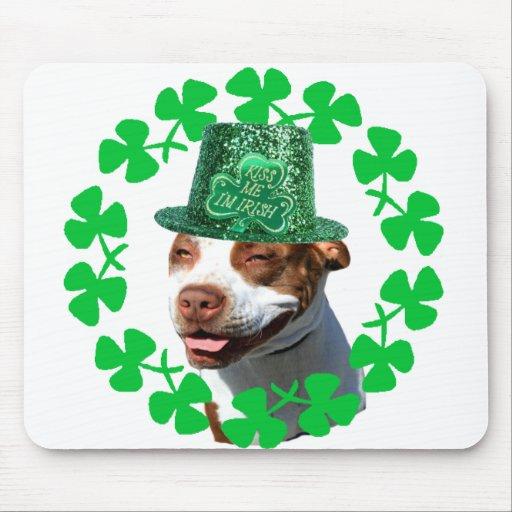 """Béseme pitbull del irlandés de m de I """" Mousepad"""
