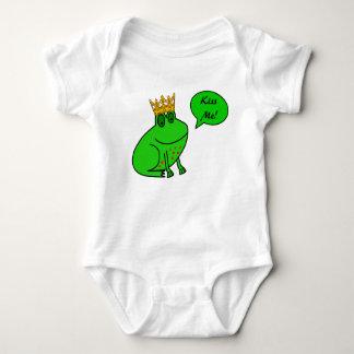 Béseme - príncipe Cartoon de la rana - ropa Polera