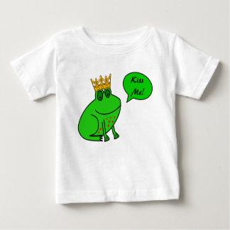 Béseme - príncipe de la rana - ropa del bebé de la polera