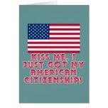 ¡Béseme que acabo de conseguir mi ciudadanía ameri Tarjeta