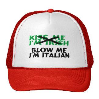 Béseme que el irlandés Im me sopla el italiano Im Gorra