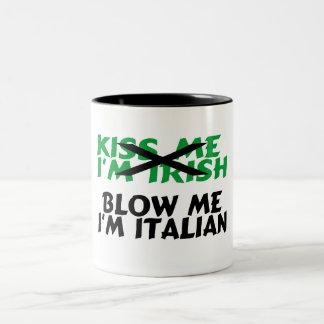 Béseme que el irlandés Im me sopla el italiano Im Taza De Dos Tonos