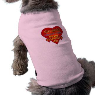 béseme que es día de San Valentín Playera Sin Mangas Para Perro
