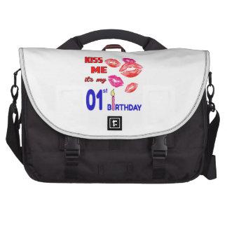 Béseme que es mi 01o cumpleaños bolsas para portatil