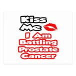 Béseme… que estoy luchando al cáncer de próstata postal